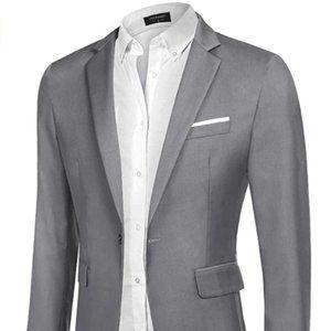 Men's Casual Sport Coat Slim One Button Suit